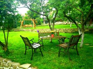 A garden outside Privat Nisa