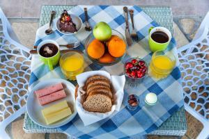 אפשרויות ארוחת הבוקר המוצעות לאורחים ב-San Lazzaro