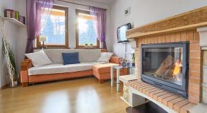A seating area at Apartament Madera