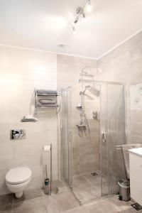 A bathroom at Central Parc Studios
