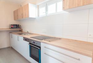 Kuchyň nebo kuchyňský kout v ubytování Nad Šťastným sklepem