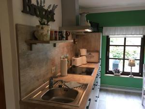 A kitchen or kitchenette at Waldblick-Hütte