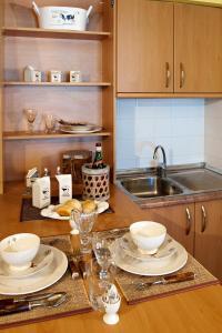 A kitchen or kitchenette at Apartaments Sant Bernat