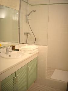 Salle de bains dans l'établissement Résidence les Grands Pins