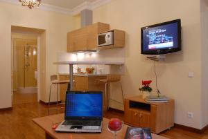 A television and/or entertainment center at Baltic Suites