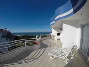 Uma varanda ou terraço em Apartamentos Férias Florianópolis