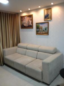 A seating area at Apartamento Edifício Bom Vivant