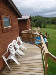 The swimming pool at or close to Ásólfsstaðir Holiday Home