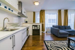 A kitchen or kitchenette at Luxury Downtown Apartments