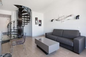 A seating area at Marceau apartment