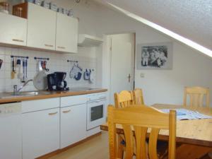 Küche/Küchenzeile in der Unterkunft Villa Phoenix Wohnung 10
