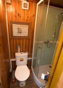 Koupelna v ubytování Bungalov u Draka Vřesina