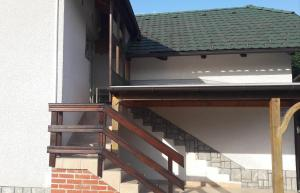 A balcony or terrace at Apartma Obrh