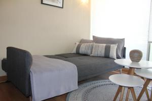 A bed or beds in a room at Apartamento Superior JV Lastarria