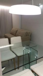 A seating area at Beach Class Boa Viagem Prime