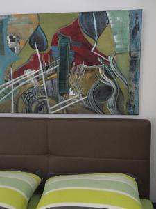 Ein Sitzbereich in der Unterkunft Salzburg City Appartement
