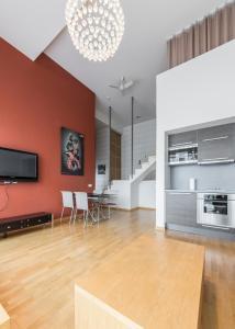 Istumisnurk majutusasutuses Best Apartments - Jõe Luxury