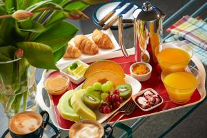 Breakfast options available to guests at Almyra Waterfront Accommodation