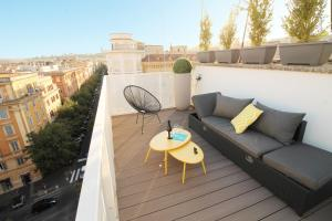 A balcony or terrace at The Vatican Terrace Experience