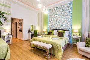 Letto o letti in una camera di Makes You Happy Budapest