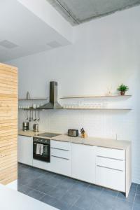 Küche/Küchenzeile in der Unterkunft Modern Design Apartment