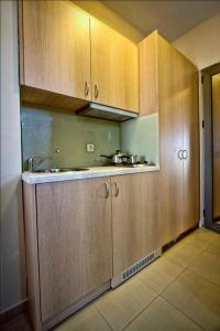 A kitchen or kitchenette at Crystal Bay Hotel