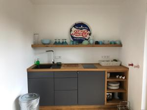 Küche/Küchenzeile in der Unterkunft Ferienhaus Poppenhausen