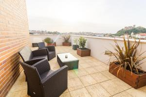 A balcony or terrace at Eurosol Residence