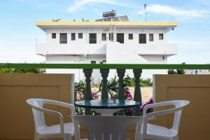 A balcony or terrace at Chrysoula Hotel