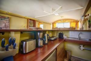 A kitchen or kitchenette at Panoramic apartment with roof terrace with Jacuzzi