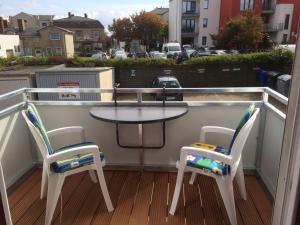 Ein Balkon oder eine Terrasse in der Unterkunft Apartment Alleestraße
