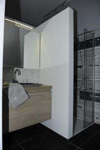 Cuisine ou kitchenette dans l'établissement Fenêtres sur cour