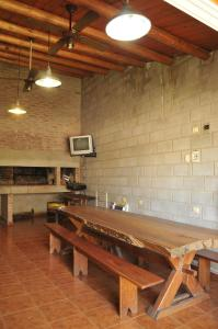 A kitchen or kitchenette at Cabañas Nazareth