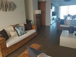 A seating area at Penthouse on Bright Point