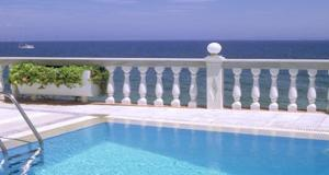 The swimming pool at or near Ostria Seaside Studios and Apartments