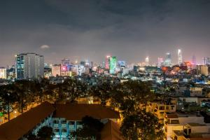 A general view of Ho Chi Minh City or a view of the city taken from the condo hotel