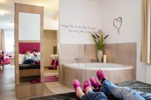חדר רחצה ב-Aparthotel Bergtraum