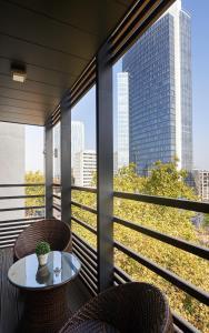 Balkon atau teras di Residence Regent 55