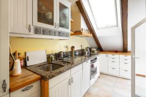 Dapur atau dapur kecil di Spectacular views of Prague castle apartment