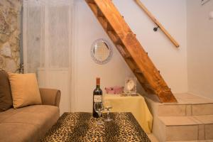 Juomia majoituspaikassa Casa Panstel