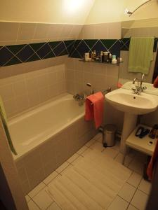 Et badeværelse på Appartement Hellfritzsch