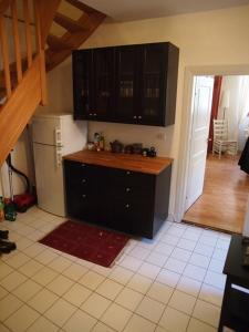 Køkken eller tekøkken på Appartement Hellfritzsch