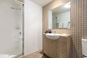 A bathroom at Quest Singleton