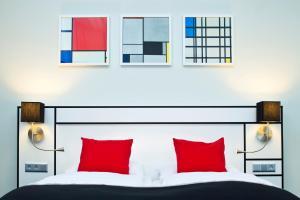 เตียงในห้องที่ Hapimag Resort Amsterdam