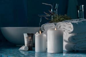 Ένα μπάνιο στο Anteliz Private Villa