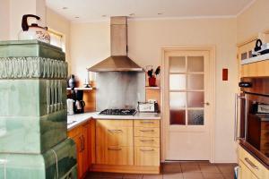 Küche/Küchenzeile in der Unterkunft Ferienhaus Nummer Een