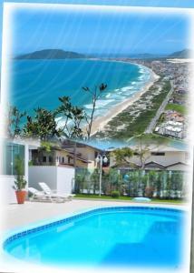 Piscina en o cerca de Tu Casa de la Playa Vacaciones en Florianópolis Brasil