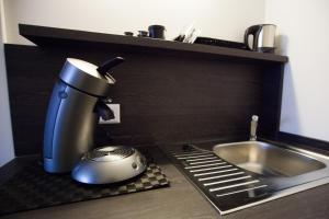 Coffee and tea-making facilities at aparthotel Cochem