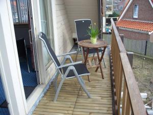 A balcony or terrace at Appartementen Bergen aan Zee de Schelp