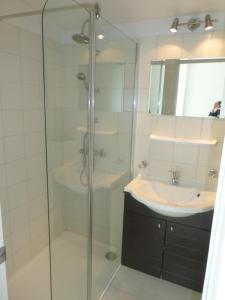 Een badkamer bij Appartement Iris